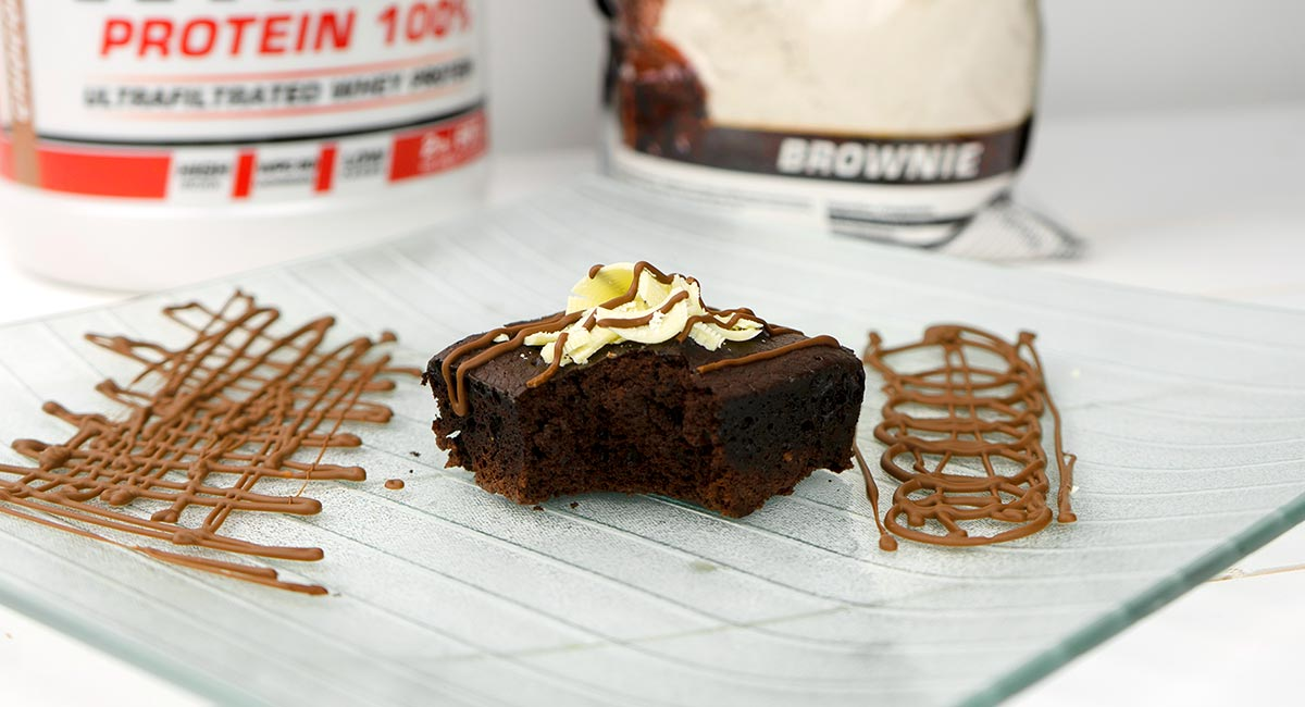 Receta de Brownie proteico Vitobest®.