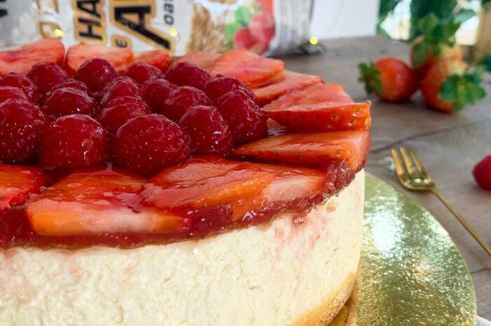 Receta Cheesecake de fresas Vitobest®.