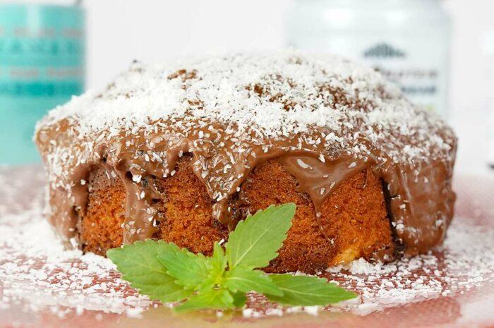 Receta Bizcocho Fit con chocolate y coco Vitobest®.