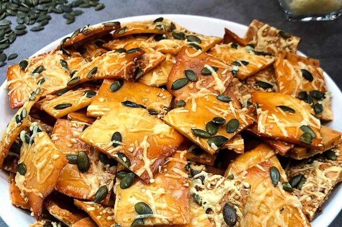 Receta Crackers de arroz y semillas Vitobest®.