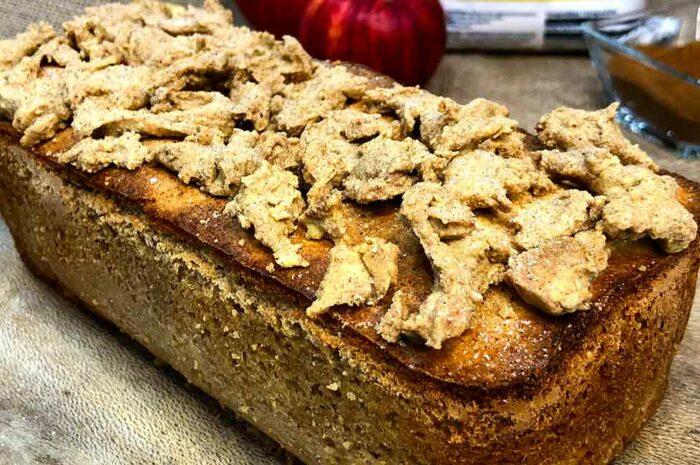 Receta Crumble plumcake de manzana y canela Vitobest®.